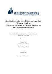 Attributbasierte Verschlüsselung mittels Gittermethoden - Institut für ...