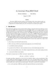 An Anisotropic Phong BRDF Model - University of Utah School of ...
