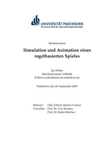 Simulation und Animation eines regelbasierten Spieles - Universität ...