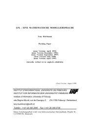 LPL : EINE MATHEMATISCHE MODELLIERSPRACHE