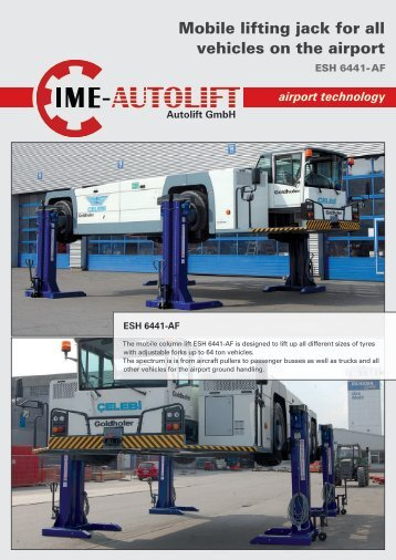 Mobile lifting jack for all vehicles on the airport - Autolift Gmbh