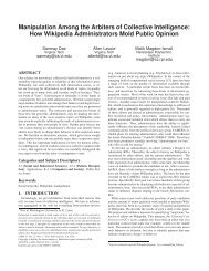 How Wikipedia Administrators Mold Public Opinion - Department of ...