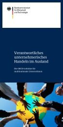 Verantwortliches unternehmerisches Handeln im Ausland - CSR in ...
