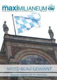 WeiSS–Blau geWinnt - CSU-Fraktion im Bayerischen Landtag