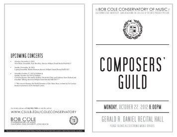 gerald r. daniel recital hall - California State University, Long Beach