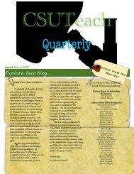 Newsletter Winter 2010 - Cleveland State University