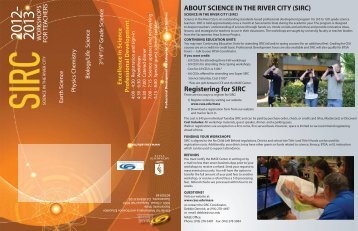 science in the river city (sirc) - California State University, Sacramento