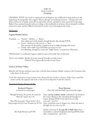 HRS 151 Study Guide for Ceremony GENERAL NOTE: the novel is ...