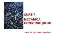 MECANICA CONSTRUCŢIILOR CURS 7