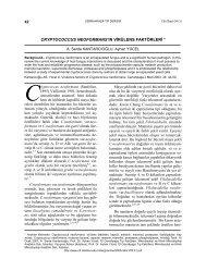 cryptococcus neoformans'ın virülens faktörleri - Cerrahpaşa Tıp ...