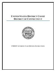CM/ECF Attorney Case Opening Instructions - District of Connecticut