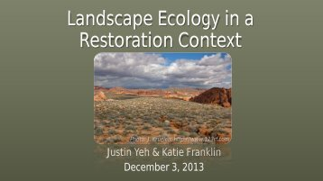 Landscape Ecology in a Restoration Context - ctahr