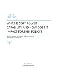 What is soft power capability and how does it impact foreign policy?
