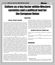 Culture as a key factor within Western societies and a political tool ...