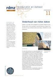 11. Onderhoud van rieten daken - Rijksdienst voor het Cultureel ...