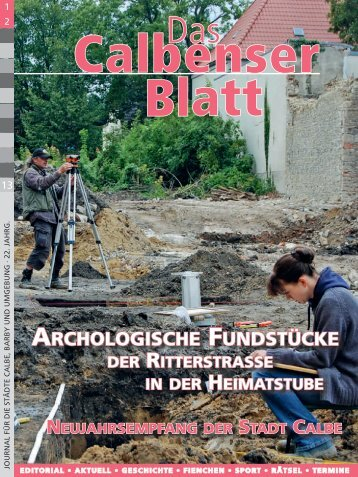 ARCHOLOGISCHE FUNDSTÜCKE - Grafisches Centrum Cuno
