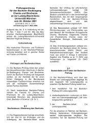 Prüfungsordnung für den Bachelor-Studiengang Chemie und ...