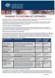 ACBPS fact sheet - Changes to Customs Act Offences - Australian ...