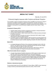 MEDIA FACT SHEET - Australian Customs Service