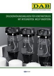 druckerhöhungsanlagen für konstantdruck Mit ... - DAB Pumpen