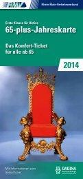 Erste Klasse für Aktive 65-plus-Jahreskarte (PDF 2,21MB) - Dadina