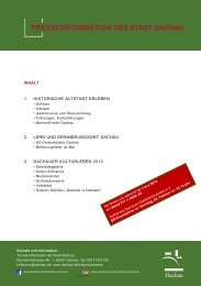 Presseinformationen der Stadt Dachau zur f.re.e 2013