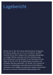 Zusammengefasster Lagebericht für Gesellschaft und ... - Daimler