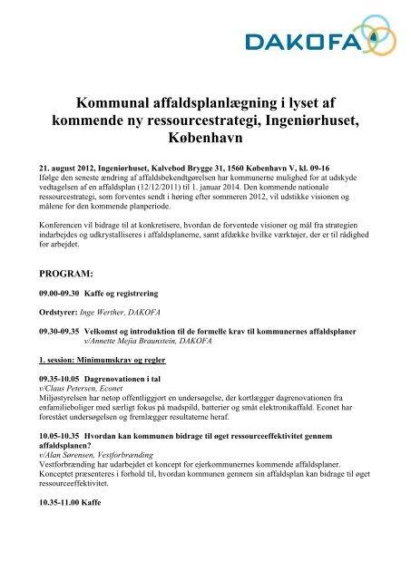 Kommunal affaldsplanlægning i lyset af kommende ny ... - DAKOFA