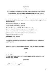 Vereinbarung zur Umsetzung im Schulbereich - Dachverband ...