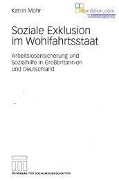 Soziale Exklusion im Wohlfahrtsstaat - Dandelon.com