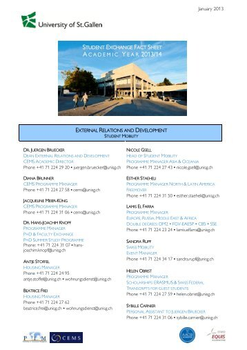 Exchange Student Fact Sheet - Darden School of Business