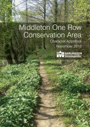 Middleton One Row Conservation Area Character Appraisal