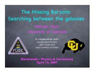 Dartmouth-Baryon talk