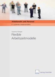Flexible Arbeitszeitmodelle - Verlag Dashöfer