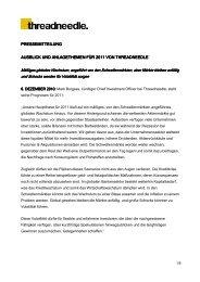 pressemitteilung pressemitteilung ausblick und ... - Das Investment