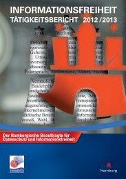 Tätigkeitsbericht Informationsfreiheit 2012 / 2013 - Hamburgische ...