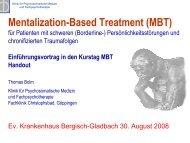 Mentalization-Based Treatment (MBT) - Deutsche ...