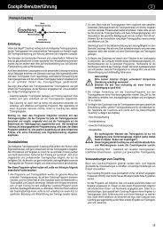 Bedienungsanleitung Coaching - Daum Electronic
