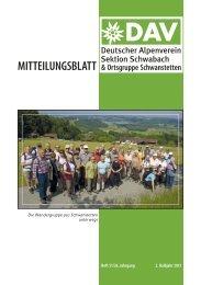 Mitteilungsblattes - DAV Sektion Schwabach