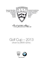 Golf Cup – 2013 - Davos