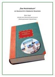 """""""Das Hochriesbuch"""" - Sektion Rosenheim"""