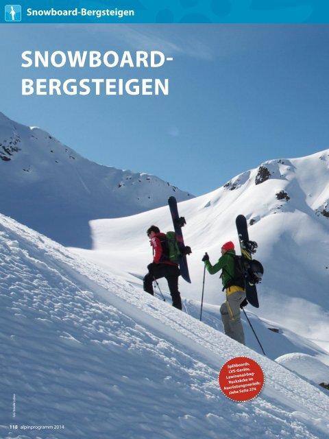 SNOWBOARD BERGSTEIGEN - München und Oberland