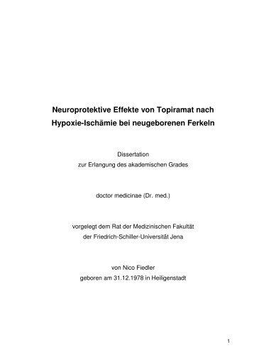 Neuroprotektive Effekte von Topiramat nach Hypoxie-Ischämie bei ...