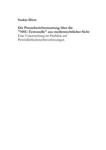 Die Presseberichterstattung über die - Digitale Bibliothek Thüringen