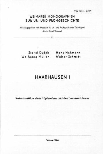 HAARHAUSEN I - Digitale Bibliothek Thüringen