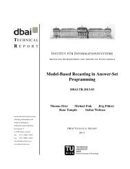 Model-Based Recasting in Answer-Set Programming - DBAI