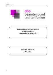 Geschäftsbericht Bildungswerk des DBB-Kreisverbandes Bonn ...