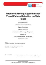 Machine Learning Algorithms for Visual Pattern Detection on Web ...