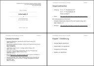 Informatik II Organisatorisches Literaturhinweise Kapitel 1 - Ludwig ...