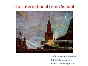 The International Lenin School - DCU